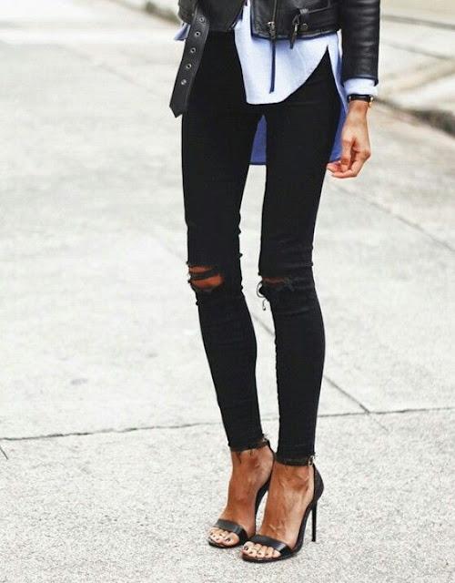 3aa19740a8db Αγοράζοντας πρόσφατα ένα απλό skinny μαύρο παντελόνι με τέλεια εφαρμογή και  σωστό μήκος μπήκα αμέσως στο blog μου να ψάξω stylish τρόπους για να το  συνδυάσω ...