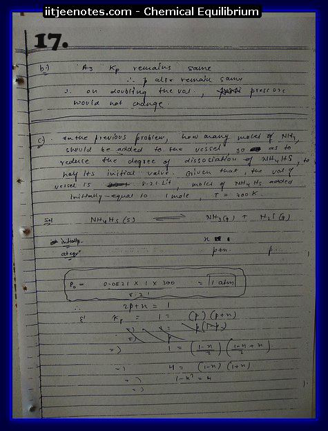Chemical Equilibrium Notes IITJEE3