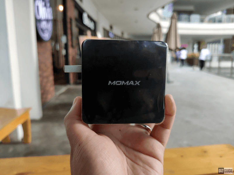 MOMAX One Plug 66W charger has a sturdy-looking build