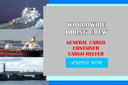 Cook, Able Seaman, 2/E, Motorman For Worldwide Ships