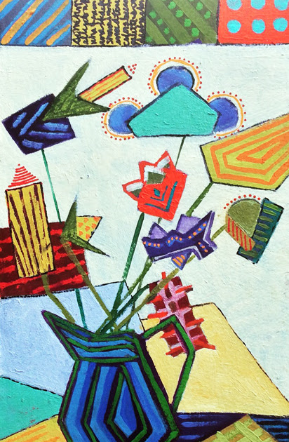 "Gloria J Zucaro's ""Abstracted Floral"""