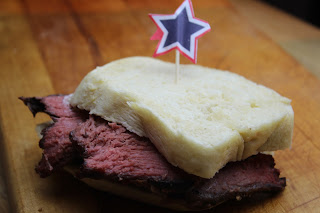 Smoked beef sandwich, Smoked Roast Beef on Texas Toast, Roast Beef on Texas Toast