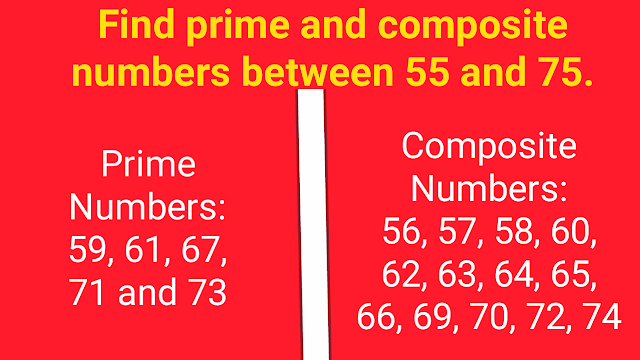 solved example of Prime Numbers and Composite Numbers