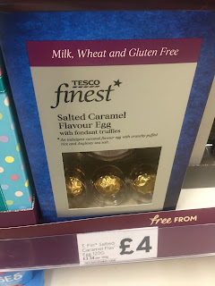 tesco finest dairy free salted caramel egg
