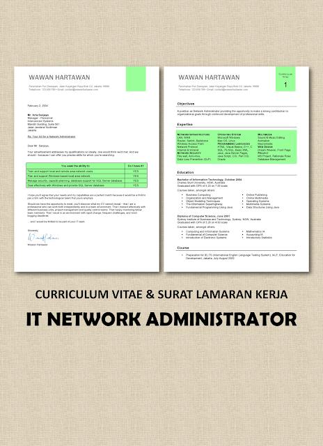 CV & Surat Lamaran Kerja IT - Network Administrator