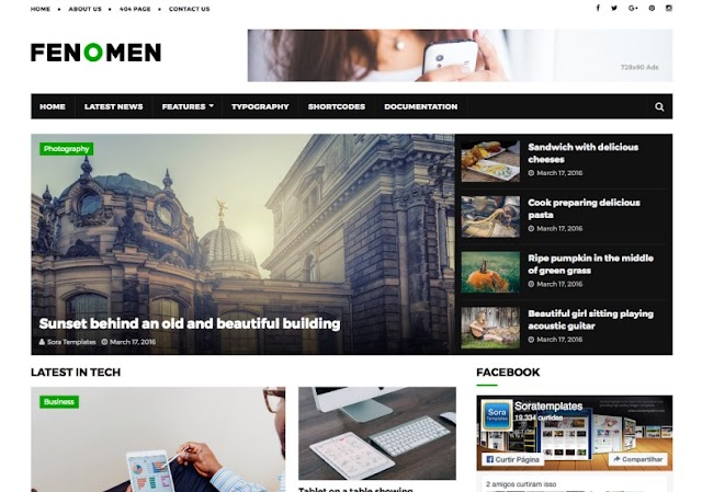 Fenomen Blogger Template Premium Version Free Download