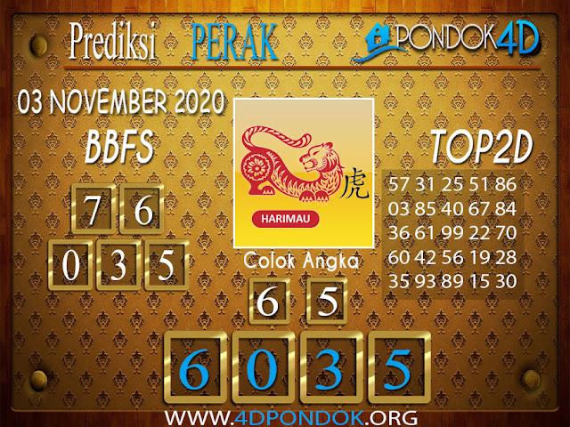 Prediksi Togel PERAK PONDOK4D 03 NOVEMBER 2020