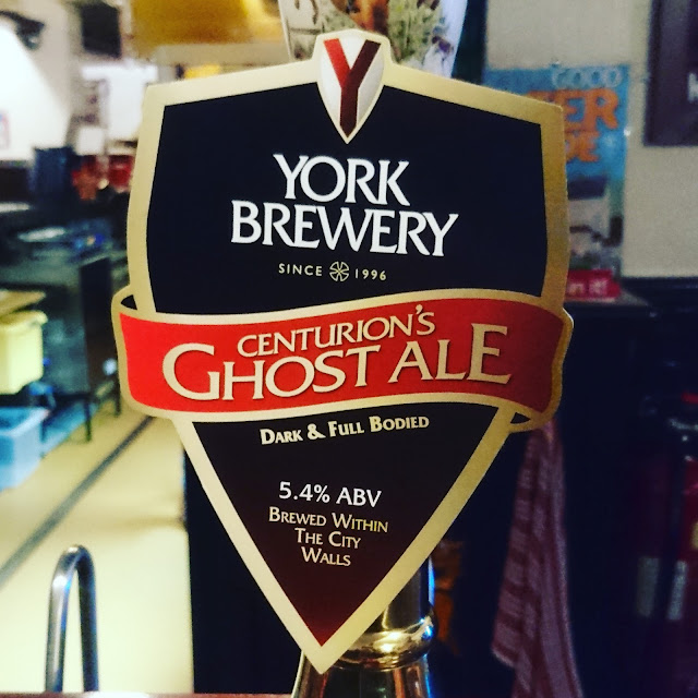 centurion's ghost from york brewery pump clip
