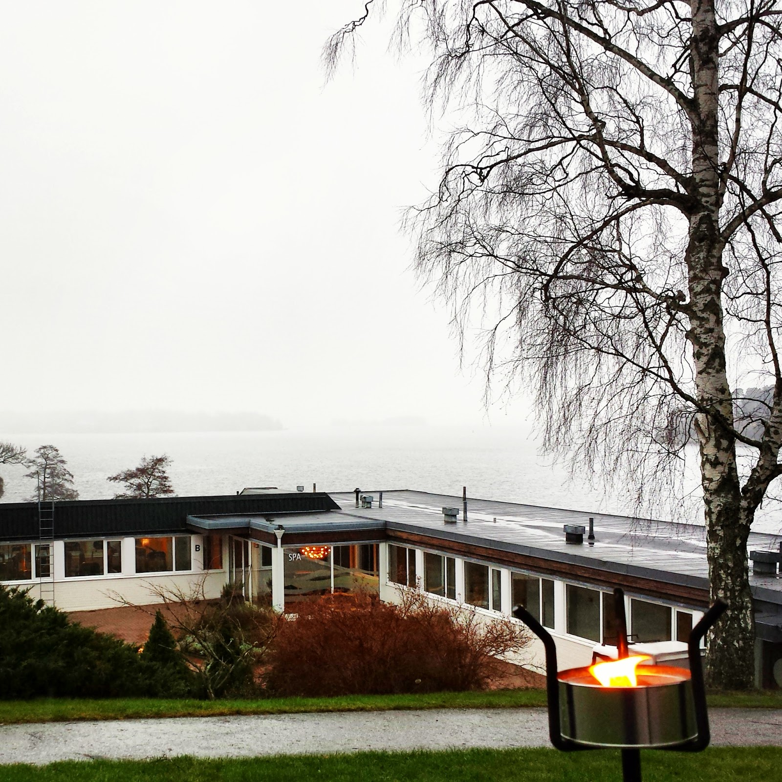 Skepparholmen Spa Hotel in Nacka, Stockholm + Swedish sauna customs  |  Skepparholmen Spa Hotel in Nacka, Stockholm + Swedish sauna customs  |  Swedish sauna rituals and snow flurries by the sea on afeathery*nest  |  http://afeatherynest.com