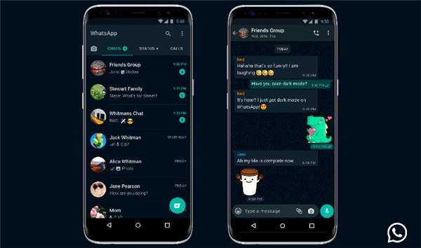 whatsapp dark mode stable update now available for ios and android