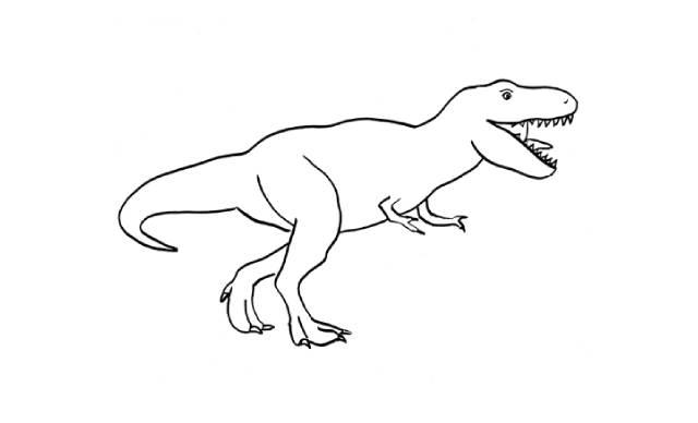 dibujos faciles tiranosaurio rex