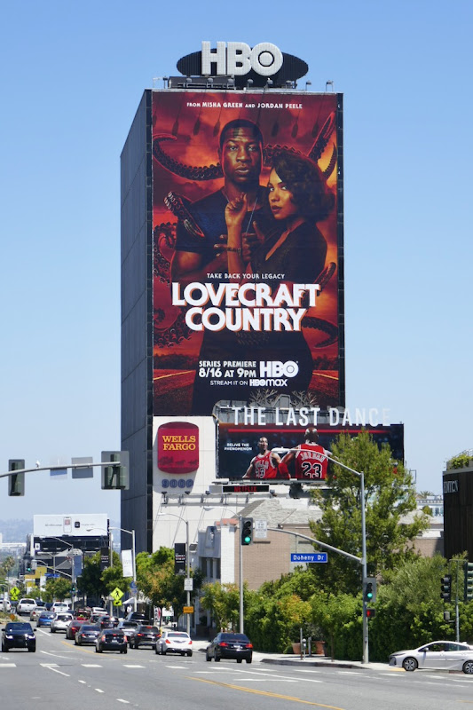 Giant Lovecraft Country HBO series billboard