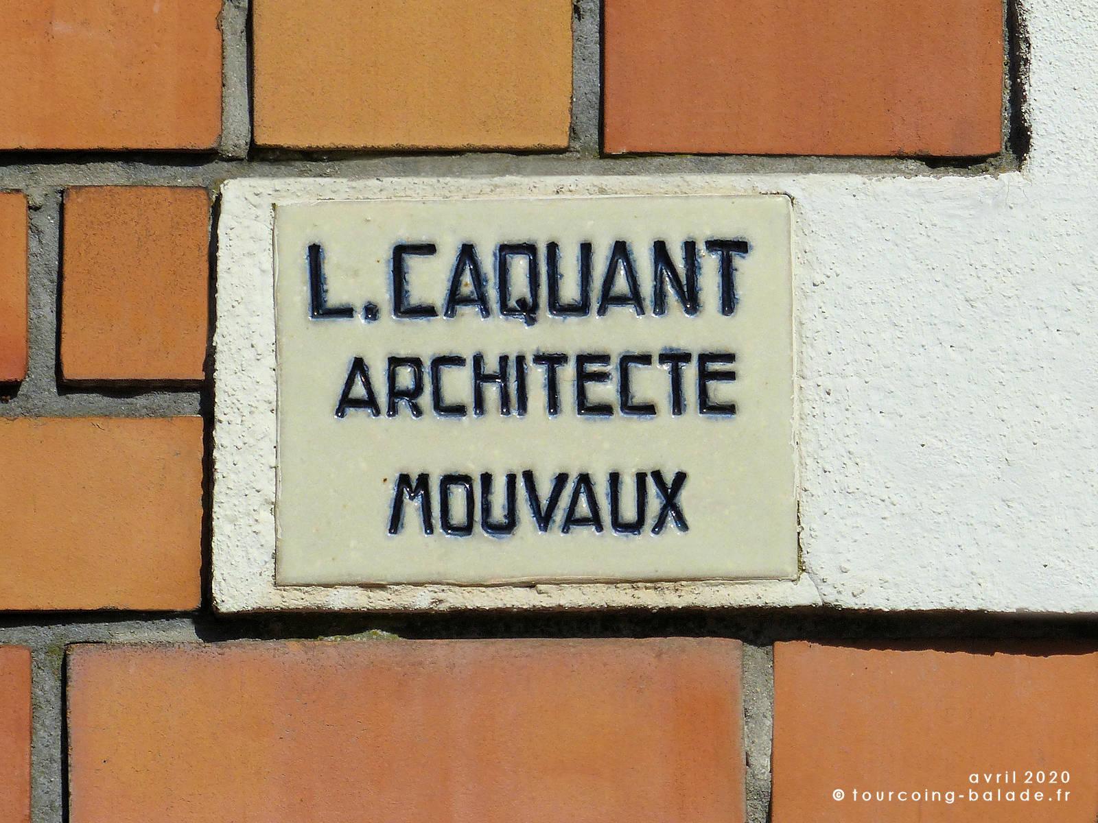 L. Caquant Architecte Mouvaux - Art Déco