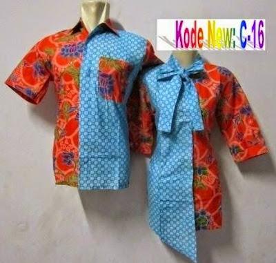 Contoh Desain Baju Batik Couple Anak Muda