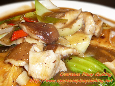 Stirfry Vegetables and Tofu with Black Bean Sauce