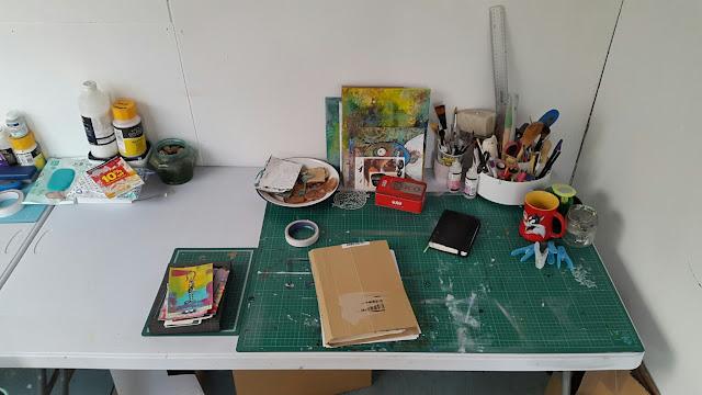 Carmen Wing: Messy What's On My Work Desk Wednesday - Organised  Work Space Artists Studio