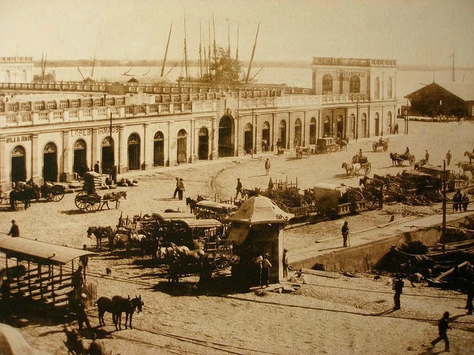 Mercado Público de Porto Alegre, em 1897