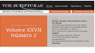 Revista Vox Scripturae