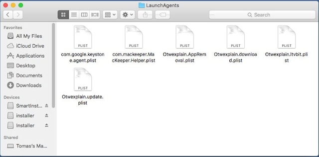 Remove OutputData Mac App Virus virus From LaunchAgents