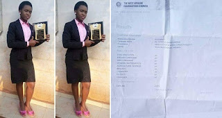 Nigerians on twitter rewarded girl who got A1 parallel in her  wassce