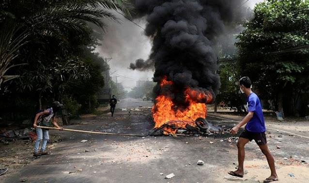 Pasukan Keamanan Myanmar Tangkap 39 Orang Diduga Penyebab Ledakan dan Pemberontakan