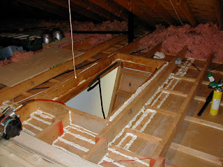 attic being air sealed