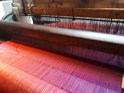 scarf knitting attempt at the McKernan Woolen Mills in Ireland