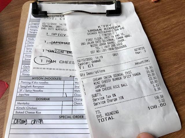 Anak-Anak Aku Peminat Nombor 1 Makanan Korea Di KFry Ni