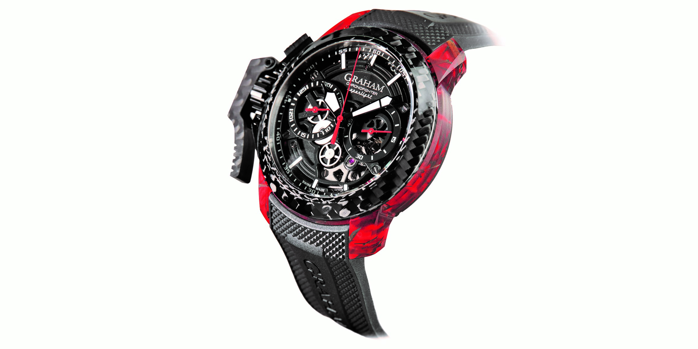 New Graham superlight carbon skeleton watch weighs less than 100 grams