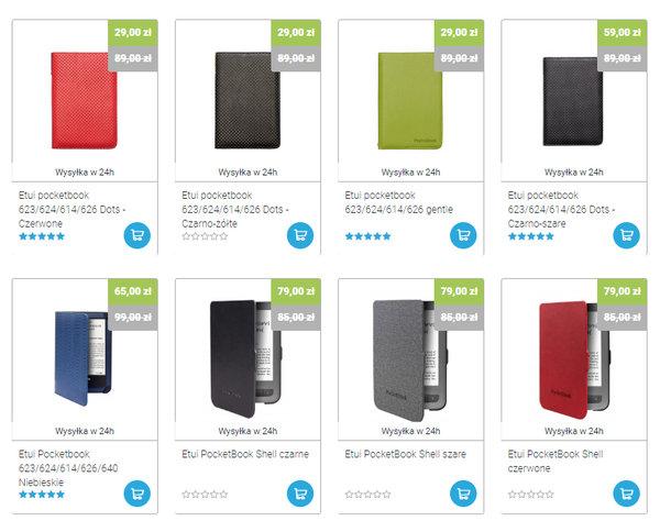 Okładki do PocketBook Basic Touch 2 na czytio.pl w różnych wariantach kolorystycznych i cenowych