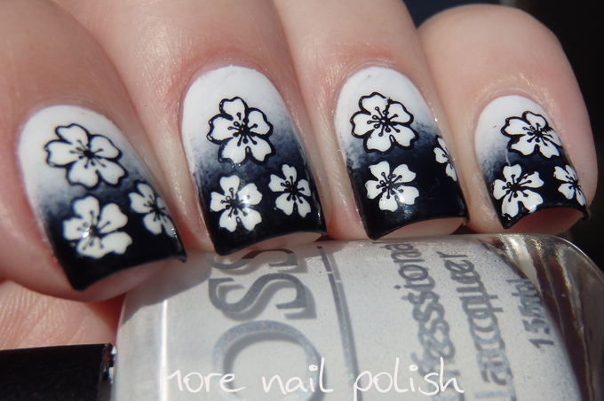 31DC2015 - Black and White ~ More Nail Polish