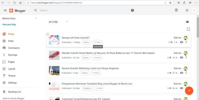 tampilan baru blogger
