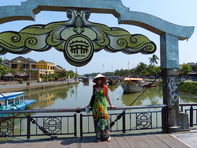 Me on the river bridge in Hoi An