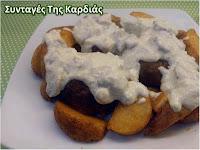 Μπιφτέκια σε σάλτσα λευκών τυριών - by https://syntages-faghtwn.blogspot.gr