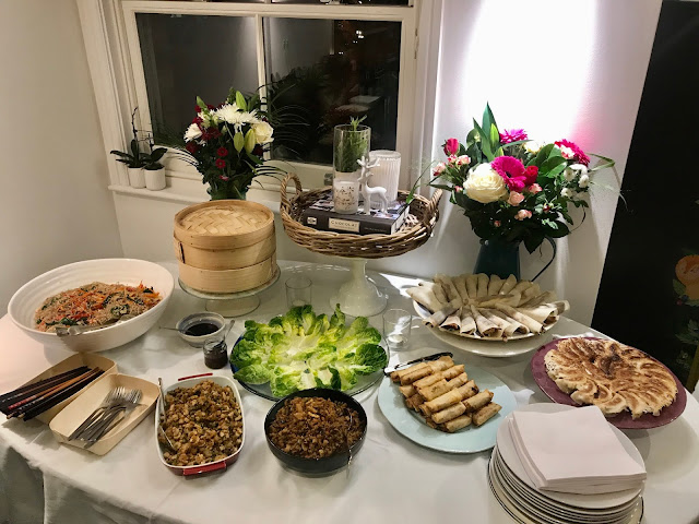 Korean vegetarian dumplings, Chinese lettuce wraps, Vietnamese fried spring rolls, Chinese aromatic duck pancakes, Japanese Gyozas