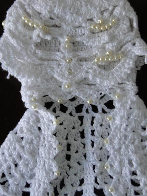 Vestido de noiva de crochê para Barbie, por Pecunia MillioM 9