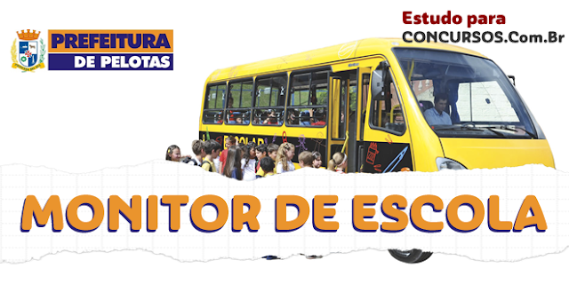 Apostila Monitor Escolar Pelotas RS