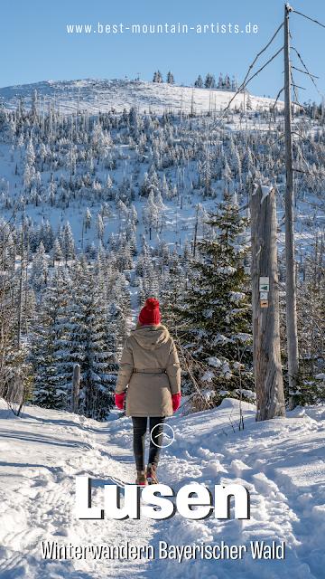 Wanderung auf den Lusen  Winterwandern im Nationalpark Bayerischer Wald 31