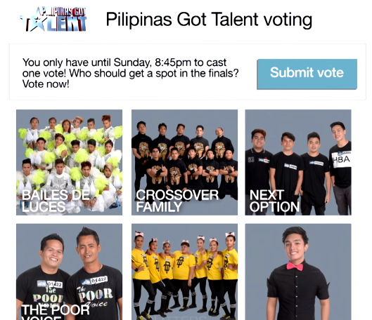 How to Vote PGT5 Thru Google Online and Mobile Voting System