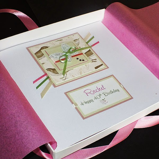 "New Handmade Birthday Card ""Vintage Songbird"""