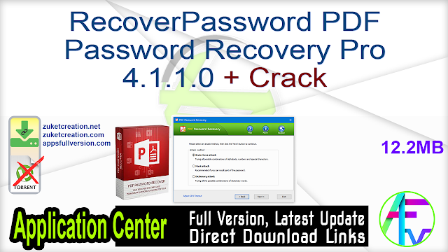 RecoverPassword PDF Password Recovery Pro 4.1.1.0 + Crack