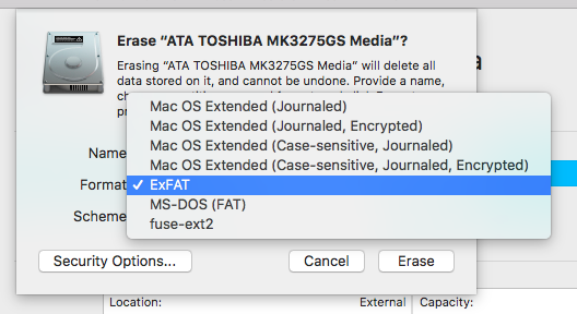 Tested: ExFAT and macOS Disk Utility Part 1