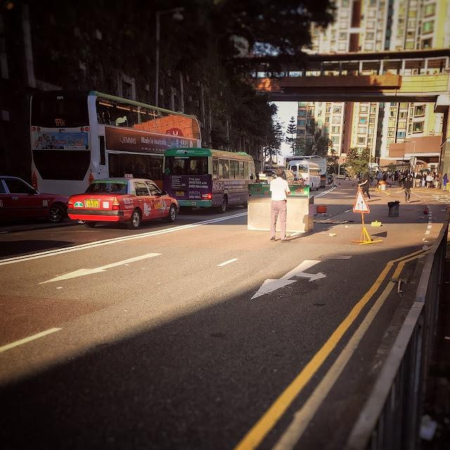 hong kong, street, road block, protest, 香港, 雜物, 築成, 路障