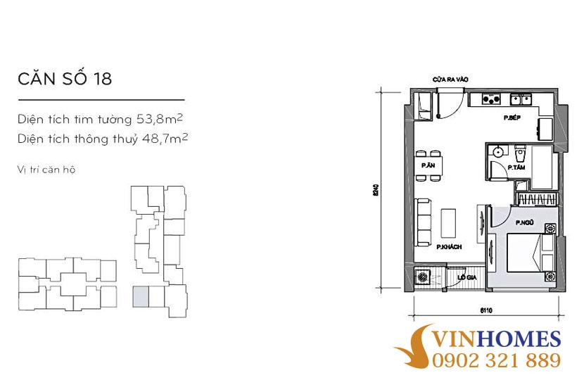 Bán căn hộ 53m2 Landmark Plus sở hữu vĩnh viễn nội thất như khách sạn - hinh 3
