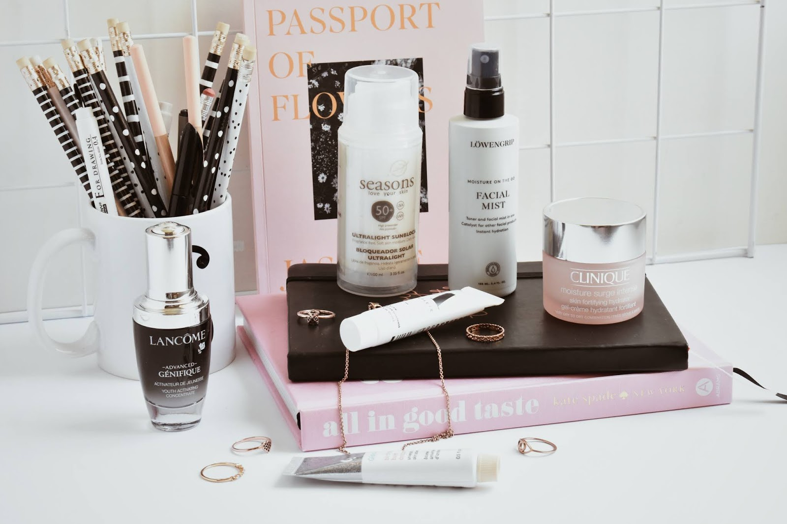 skincare routine day time easy five steps lancome glossier clinique a complete seasons mx beauty blogger de belleza mexicana noirette diary skincare 4