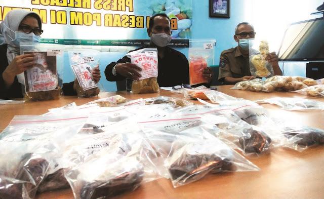 Ibu-Ibu Mohon Hati-Hati! BPOM Mataram Sita Produk Mengandung Boraks & Formalin yang Beredar di Pasaran