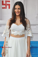 Telugu Actress Amyra Dastur Stills in White Skirt and Blouse at Anandi Indira Production LLP Production no 1 Opening  0038.JPG