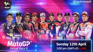 Parrilla Salida MotoGP Virtual Race Red Bull Ring 12-4-2020