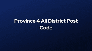 Province 4 All District Post Code