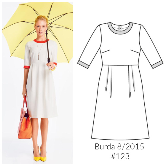 an image from Burda Style of a dress sewing pattern